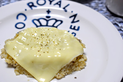 チーズのっけリゾット